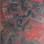 ' Arrangement instrumental en rouge ' 2011 81×65 cm
