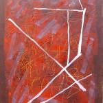 ' Le Grand Rouge ' 2002 100×81 cm