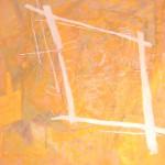 ' Signes sur fond jaune ' 2008 100×100 cm