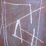 ' Signes sur fond mauve ' 2009 92×73 cm